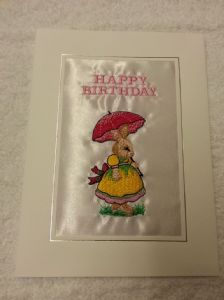 HAPPY BIRTHDAY CARD - Rabbit with Umbrella